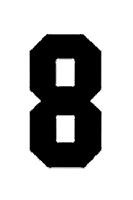 Block Number 8 Stencil